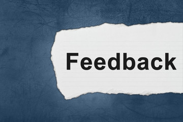 Feedback with white paper tears