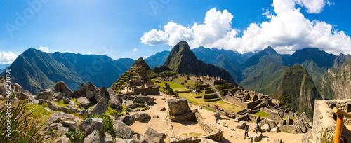 Fototapeta Panorama of Mysterious city - Machu Picchu, Peru,South America