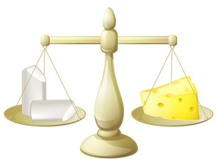 Comparing chalk and cheese scales