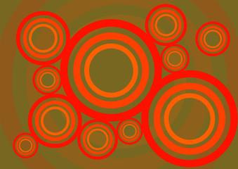 Hintergrund Dekor Kreise mehrfarbig