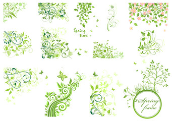 Set of spring floral design