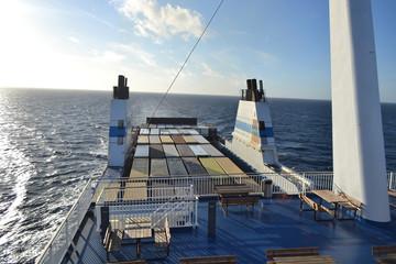 Cargo ferry.