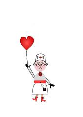 Krankenschwester mit Herz