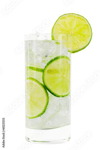 canvas print picture Glas mit Wasser; Beschneidungspfad