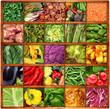 verdura in bacheca collage