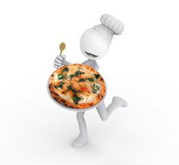 Cocinero con Pizza
