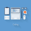 Coding and programming flat illustration