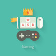 Gaming concept flat illustration