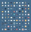 Business and finance flat icons big set