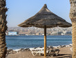 Leisure and recreation in the sandy beach of Eilat, Israel