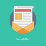 Newsletter flat illustration concept