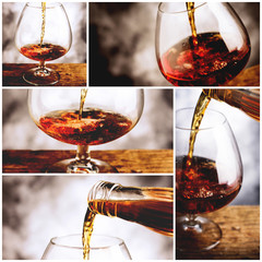 collage whisky glass
