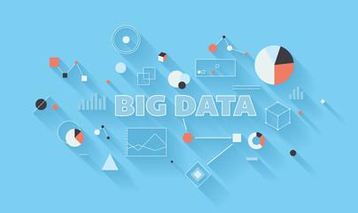 Big data analysis illustration