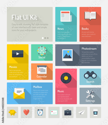 Flat infographic website user interface concept