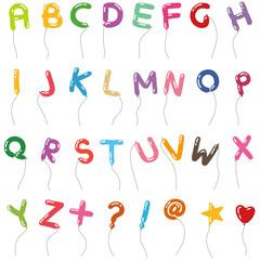 風船アルファベット書体