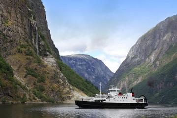Fjord Neroyfjord in Norway