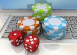 Online Casino Concept - 3D - 60234343