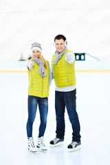 Skating couple