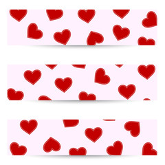 Valentine seamless banners