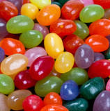 jelly bean candies on wooden surface