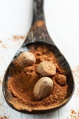 Ground nutmeg spice - noce moscata