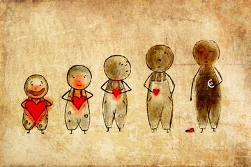 Geld Liebe Herz Kindheit Entwicklung Geldgier