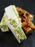 Torrone with pistachio and almond brittle from Sicily