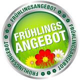 """Button """"Frühlingsangebot"""" grün/rot/silber"""