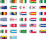 Soccer Ball and Country Flags