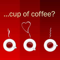 cup of coffee color vector