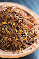 Rooibos tea with fruits and flowers