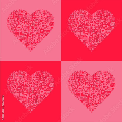 Conceptual Heart Background