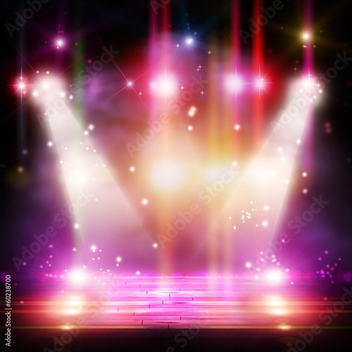 Papiers peints Lumiere, Ombre Background with flashing lights.