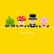 Cloverleaf, Fly Agaric, Chimney Sweeper & Pig Gifts Yellow
