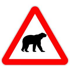 Sinal de perigo - urso