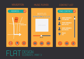 Flat design template for mobile devices - Vector Illustration