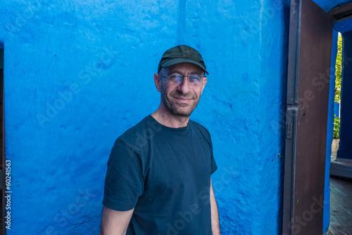 tourist in Santa Catalina monastery Arequipa Peru