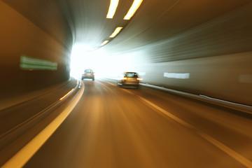 Danger tunnel driving