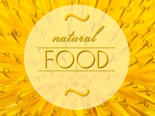 Natural food concept with flower macro background