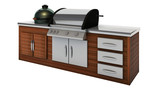stainless steel barbecue with grill