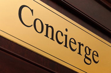 Concierge sign