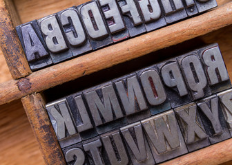 Typesetter drawer: alphabet