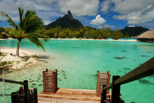 Lagoon and Otemanu mount. Bora Bora, French Polynesia