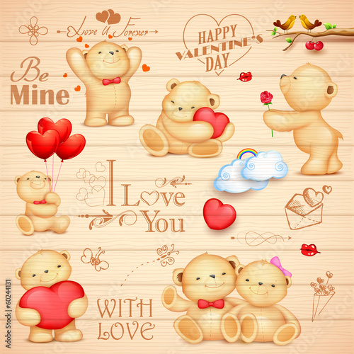 Teddy Bear for love background - 60244131