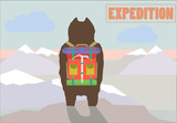 Travel Expedition c with Hiker Bear traveler
