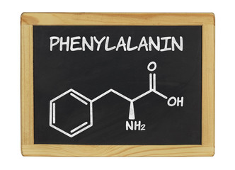 chemische Strukturformel von Phenylalanin