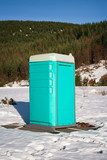 Porta Potty in the Snow