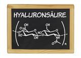 chemische Strukturformel von Hyaluronsäure poster