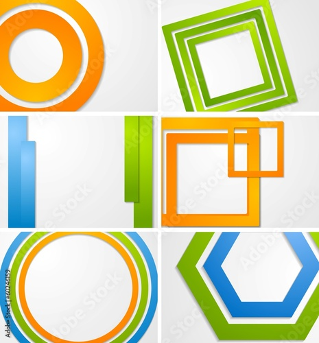 Abstract bright vector backgrounds