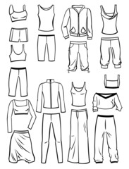 Clothing for fitness